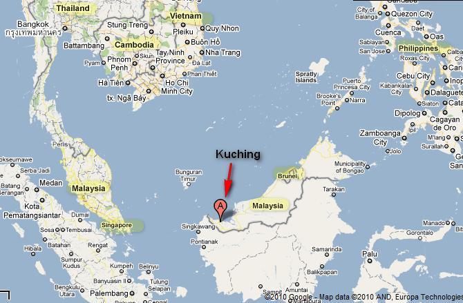 kuching-map